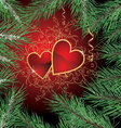 Happy new year and love banner vector image