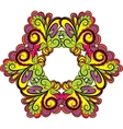 Hexagonal vivid floral pattern vector image