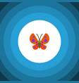 isolated monarch flat icon moth element vector image