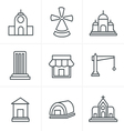 Line Icons Style Set of house icons vector image