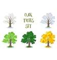 Oak Trees Set Seasons vector image