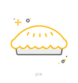 Thin line icons Pie vector image