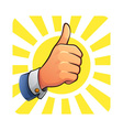 Thumb Up of Success vector image