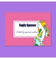 Business card for school of expectant mothers vector image