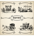 Modern and vintage cars silhouettes collection vector image vector image