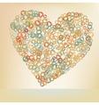 Orabge love hearts EPS 8 vector image