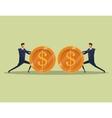 men business concept finance money coins team vector image