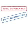 100 percent guarantee textile stamps vector image