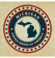 Vintage label Michigan vector image