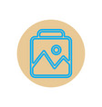 icon on the topic office on cir vector image