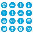 great britain icon blue vector image