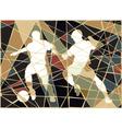 Soccer stars mosaic vector image vector image