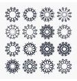 Snowflake icons Christmas and New year symbol vector image