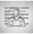 suspect icon vector image