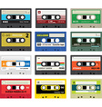 Vintage cassette tapes vol 1 vector image