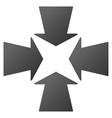 Shrink Arrows Gradient Icon vector image