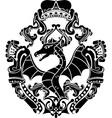 dragon arms vector image vector image