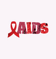 aids concept stamped word art vector image