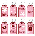 assortment of pink labels for valentines day vector image