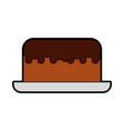 cute cake cartoon vector image