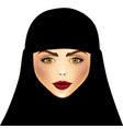 Portrait of muslim beautiful girl vector image