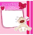 Postcard small baby crying vector image