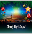 Christmas greeting with panorama of Heidelberg vector image