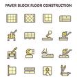 Paver block work vector image