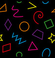 multicolor basic geometrical shapes seamless vector image