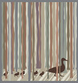 wood duck family vector image vector image