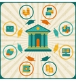 Conceptual banking and business infographic vector image vector image