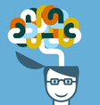 Creative person - head with imaginative brain vector image vector image