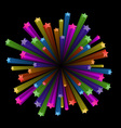 colorful stars explode vector image