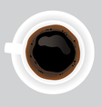 Cup of black coffee on grey background vector image