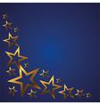 Gold stars on a blue background vector image
