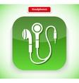 Headphone App Icon Flat Style Design vector image