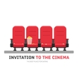 An invitation to the movie in flat design vector image