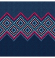 Seamless Pattern Knit Woolen Ornament Texture vector image vector image
