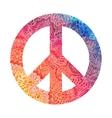 Watercolor peace symbol vector image