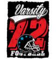 american football vintage print for boy vector image