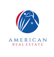 american real estate concept wit eagle and house vector image