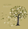 beautiful maple tree vector image