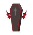 Dracula Coffin vector image