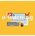 flat design concept for online vector image