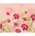 Spring Summer colorful flower background vector image