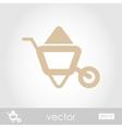 Wheelbarrow carts icon vector image