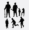 Soldier army and police silhouette 3 vector image vector image