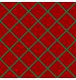 Green Grid Chess Board Diamond Red Background vector image
