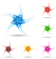 Abstract fluffy star vector image