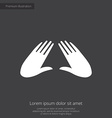 massage premium icon white on dark background vector image